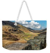 Nant Ffrancon Pass Snowdonia Weekender Tote Bag