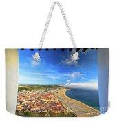 Nazare Portugal Skyline Weekender Tote Bag