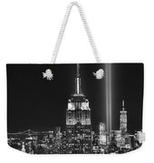 New York City Tribute In Lights Empire State Building Manhattan At Night Nyc Weekender Tote Bag