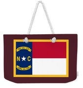North Carolina Flag. Weekender Tote Bag