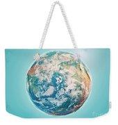 North Pole 3d Render Planet Earth Clouds Weekender Tote Bag