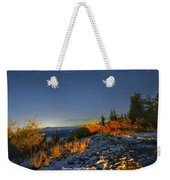 Northern Lights At Mount Pilchuck Weekender Tote Bag