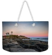 Ocean Lighthouse At Sunset Weekender Tote Bag