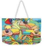 One Day On The Lake Weekender Tote Bag
