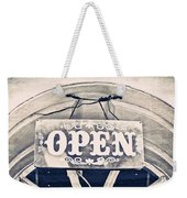 Open Sign Weekender Tote Bag