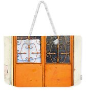 Orange Door Weekender Tote Bag