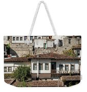 Ottoman Architecture View In Historic Berat Old Town Albania Weekender Tote Bag