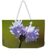 Pale Blue Bachelor Button From The Double Ball Mix Weekender Tote Bag