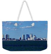 Panoramic View Of Atlantic City, New Jersey Weekender Tote Bag