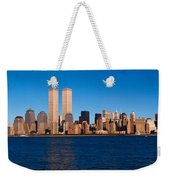 Panoramic View Of Lower Manhattan Weekender Tote Bag