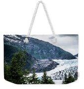 Panoramic View Of Mendenhall Glacier Juneau Alaska Weekender Tote Bag