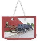 Amish Parking Lot Weekender Tote Bag