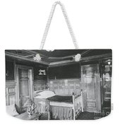 Parlour Suite Of Titanic Ship Weekender Tote Bag by Photo Researchers