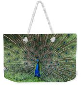 2 Peacocks And A Black Pussy Cat Weekender Tote Bag
