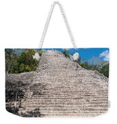 People Climbing Nohoch Mul At The Coba Ruins  Weekender Tote Bag