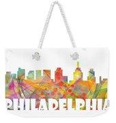 Philadelphia Pennsylvania Skyline Weekender Tote Bag