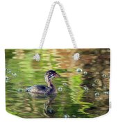 Pied-billed Grebe Bubbles Weekender Tote Bag