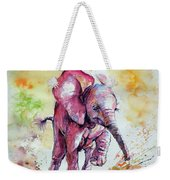Playing Elephant Baby Weekender Tote Bag