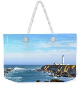 Point Arena Lighthouse Weekender Tote Bag by Jim Thompson