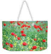 Poppy Flowers Meadow Spring Season Weekender Tote Bag