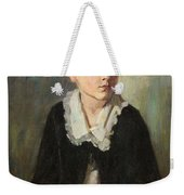 Portrait Of A Seated Child Weekender Tote Bag