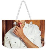 Portrait Of Young Businessman.  Weekender Tote Bag