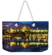 Prague Skyline At Sunset Weekender Tote Bag