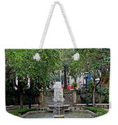 Public Fountain And Gardens In Palma Majorca Spain Weekender Tote Bag