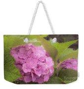 Purple Hydrangea At Rainy Garden In June, Japan Weekender Tote Bag