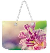 Purple Spring Lilac Flowers Blooming Close-up Weekender Tote Bag