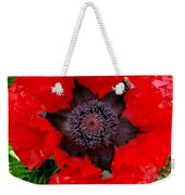 Red Poppy Photograph Weekender Tote Bag