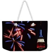 Red White And Blue Weekender Tote Bag by Susan Candelario