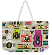 Retro Camera Pattern Weekender Tote Bag by Setsiri Silapasuwanchai