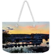 Rockport Harbor Sunset I Weekender Tote Bag