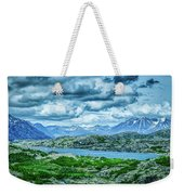 Rocky Mountains Nature Scenes On Alaska British Columbia Border Weekender Tote Bag