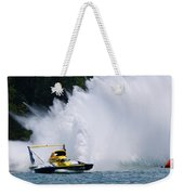Roostertail From Racing Hydroplanes Boats On The Detroit River For Gold Cup Weekender Tote Bag