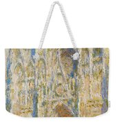 Rouen Cathedral, West Facade, Sunlight Weekender Tote Bag