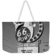 Route 66 Bowl Weekender Tote Bag