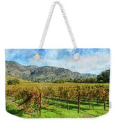 Rows Of Grapevines In Napa Valley Caliofnia Weekender Tote Bag