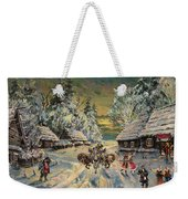 Russian Winter Weekender Tote Bag