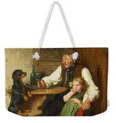 Rustic Interior With Grandfather Weekender Tote Bag