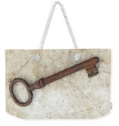 Rusty Key On Old Parchment Weekender Tote Bag