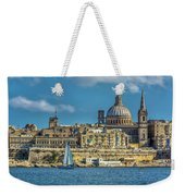 Sail Boat And Cathedral Weekender Tote Bag