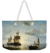 Sailing Ships At Dusk Weekender Tote Bag