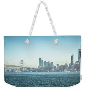 San Francisco California City Skyline At Spring Sunset Weekender Tote Bag