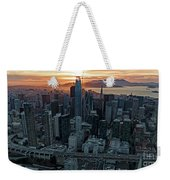 San Francisco City Skyline At Sunset Aerial Weekender Tote Bag