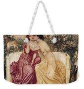 Sappho And Erinna In A Garden At Mytilene Weekender Tote Bag