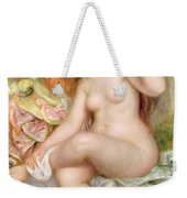 Seated Bather Weekender Tote Bag by Pierre Auguste Renoir