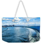 Seattle Washington Cityscape Skyline On Partly Cloudy Day Weekender Tote Bag