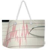 Seismograph Earthquake Activity Weekender Tote Bag